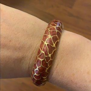Giraffe print bracelet